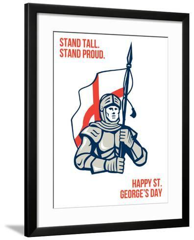 Stand Tall Proud English Happy St George Greeting Card-patrimonio-Framed Art Print