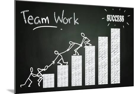 Team Work-airdone-Mounted Art Print