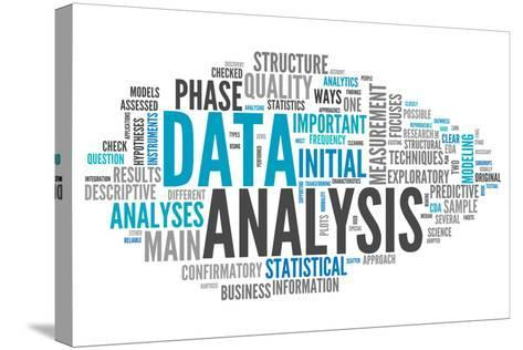 Word Cloud Data Analysis-mindscanner-Stretched Canvas Print