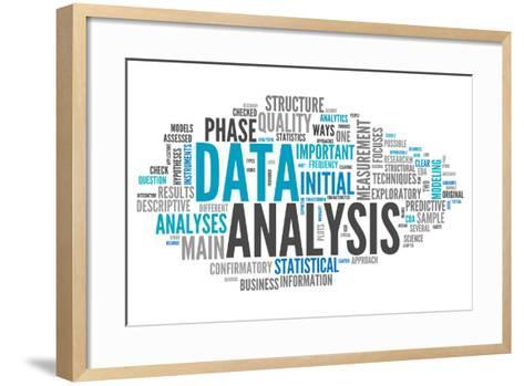 Word Cloud Data Analysis-mindscanner-Framed Art Print