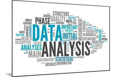 Word Cloud Data Analysis-mindscanner-Mounted Art Print