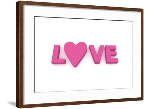 Love with Heart in Pink/Purple-PixBox-Framed Art Print