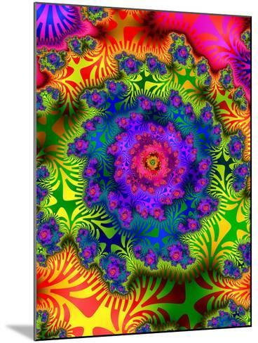 Abstract Psychedelic--Mounted Giclee Print