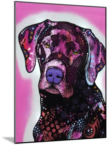 Black Lab-Dean Russo-Mounted Giclee Print