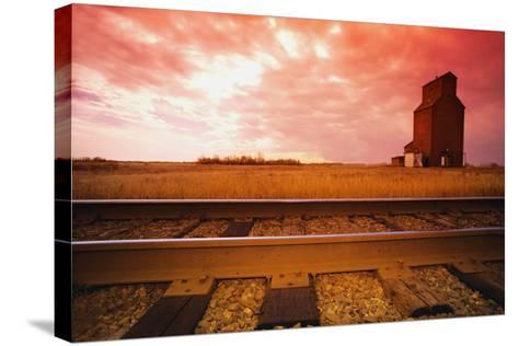 Railroad Tracks--Stretched Canvas Print