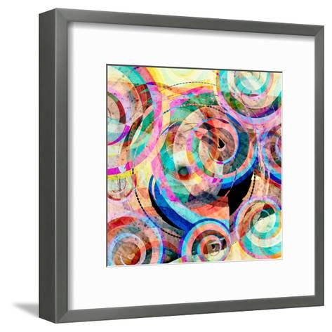 Abstract Colorful Background-Tanor-Framed Art Print