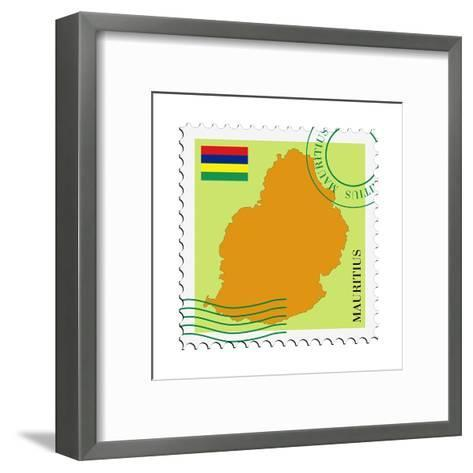 Mail To-From Mauritius-Perysty-Framed Art Print