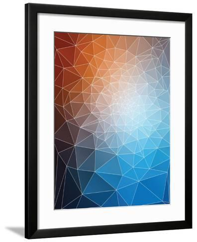 Modern Triangle Mesh Stained Glass Mosaic Design-traffico-Framed Art Print