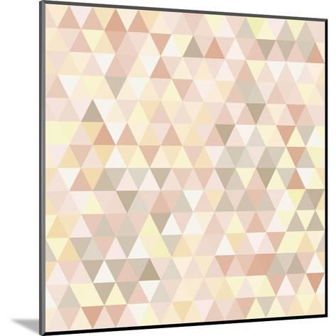 Triangle Neutral Abstract Background-IreneArt-Mounted Art Print