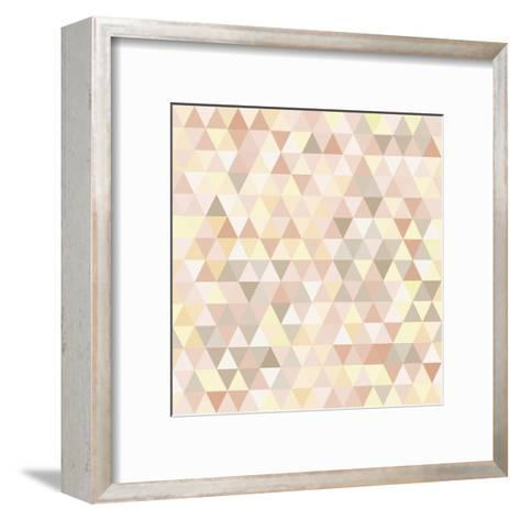 Triangle Neutral Abstract Background-IreneArt-Framed Art Print