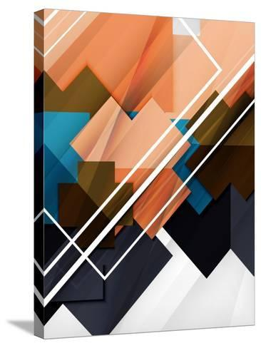 Geometrical Shape Abstract Background. for Business Background   Numbered Banners   Business Lines-antishock-Stretched Canvas Print