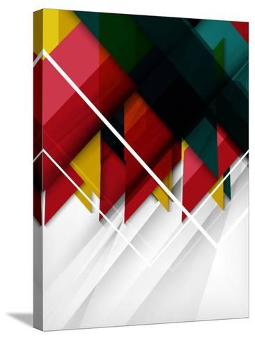 Geometrical Shape Abstract Background. for Business Background | Numbered Banners | Business Lines-antishock-Stretched Canvas Print