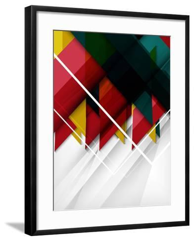 Geometrical Shape Abstract Background. for Business Background | Numbered Banners | Business Lines-antishock-Framed Art Print