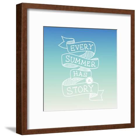 Hand Drawn Summer Quotation, Vector Illustration-Ms.Moloko-Framed Art Print