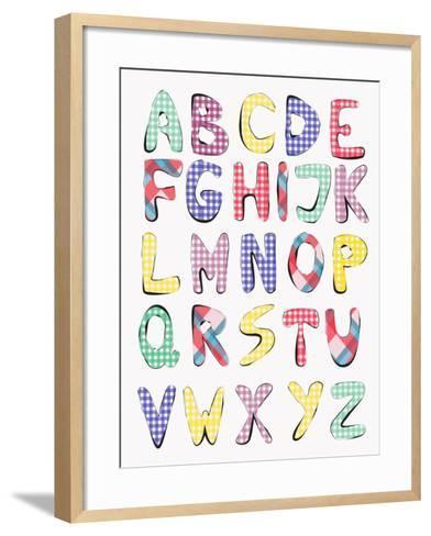 Hand Drawn Alphabet-vesnacvorovic-Framed Art Print