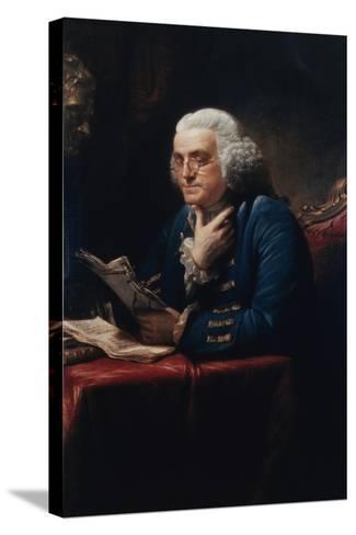 Benjamin Franklin-David Martin-Stretched Canvas Print