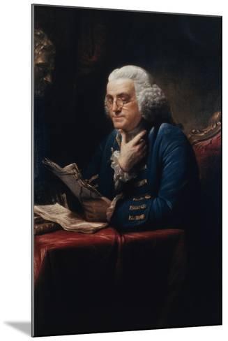 Benjamin Franklin-David Martin-Mounted Art Print
