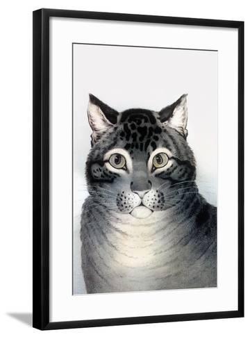 Favorite Cat-Currier & Ives-Framed Art Print
