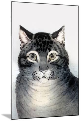 Favorite Cat-Currier & Ives-Mounted Art Print