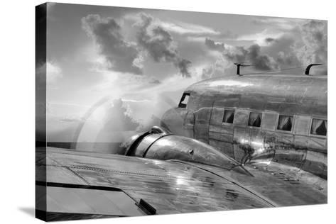 Vintage Airplane in Flight-Nick Vedros & Assoc.-Stretched Canvas Print