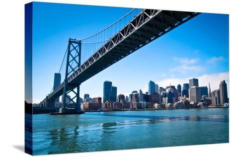 Bay Bridge and Embarcadero-Lily Chou-Stretched Canvas Print