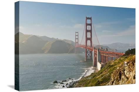 Golden Gate Bridge-Ian Morrison-Stretched Canvas Print