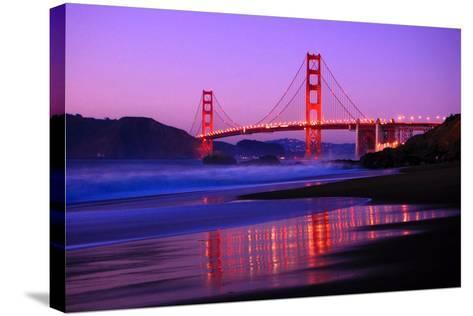 Golden Gate Bridge Dusk-Ian Philip Miller-Stretched Canvas Print