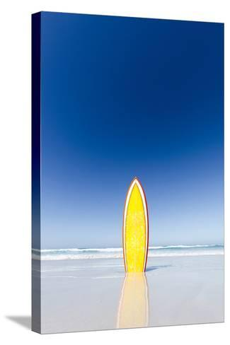 Retro Yellow Surf Board and Blue Sky. Australia.-John White Photos-Stretched Canvas Print