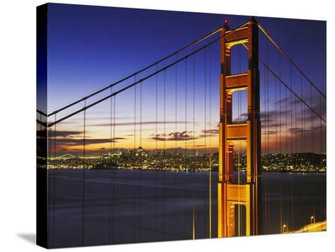 Golden Gate Bridge at Dawn-Brian Lawrence-Stretched Canvas Print