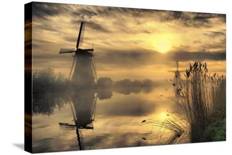 Kinderdijk before Daybreak-StehliBela-alias-scarbody-Stretched Canvas Print