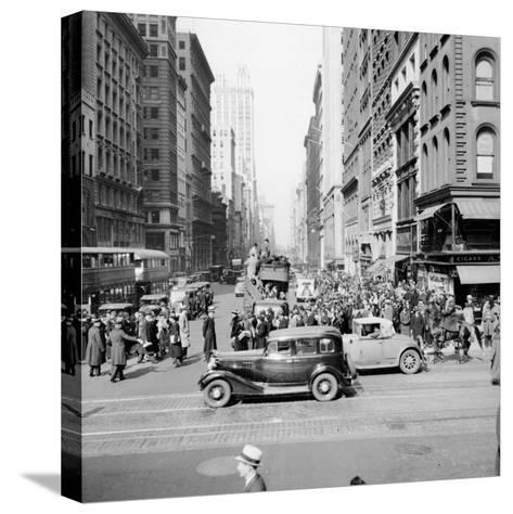 New York Street Scene-Hulton Archive-Stretched Canvas Print