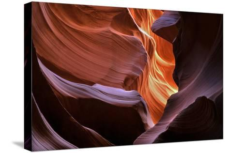 Abstract Sandstone Sculptured Canyon Walls-Mitch Diamond-Stretched Canvas Print