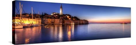 Rovinj Blue Hour Sunset / Istria, Croatia-Copyright NielsKristian Photography-Stretched Canvas Print