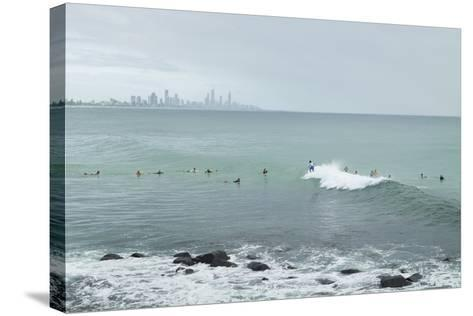 Surfing Early Morning , Queensland , Australia-Southern Stock-Stretched Canvas Print
