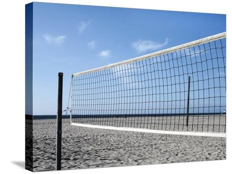 Empty Volleyball Field on the Beach-Frank Rothe-Stretched Canvas Print