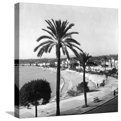 Beachfront at Nice-Getty Images-Stretched Canvas Print
