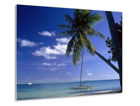 Catamaran Bora Bora-Ron Whitby Photography-Metal Print