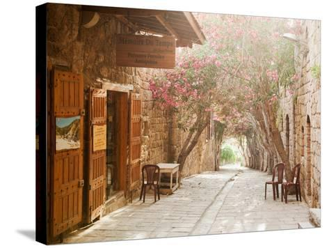 Shops in a Narrow Street in the Souq at Byblos, a Small Coastal Town in Lebanon-Cultura Travel/Philip Lee Harvey-Stretched Canvas Print
