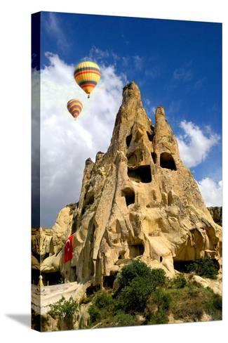 Cappadocia Houses-M Reza Faisal-Stretched Canvas Print