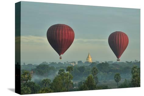 Hot Air Balloons over Bagan in Myanmar-Huang Xin-Stretched Canvas Print