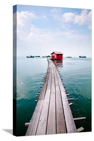 Clan Jetty Boardwalk, Penang-Will Tan-Stretched Canvas Print