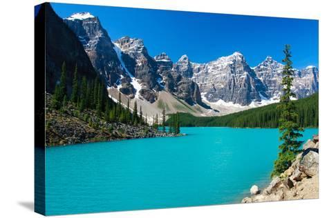 Moraine Serenity-Judd Patterson-Stretched Canvas Print