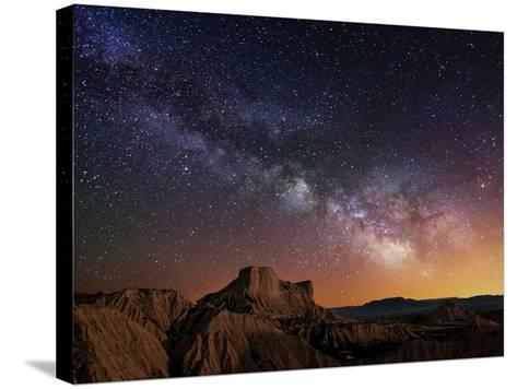 Milky Way over the Desert-Inigo Cia-Stretched Canvas Print