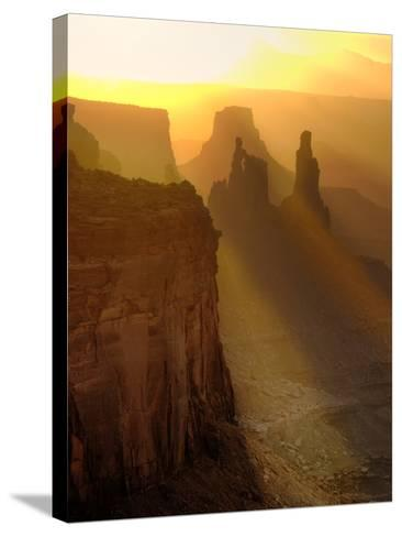 Sun Beams on the Mesa-Daniel Cummins-Stretched Canvas Print