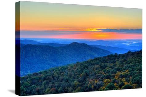 Blue Ridge Mountains-Nikographer [Jon]-Stretched Canvas Print