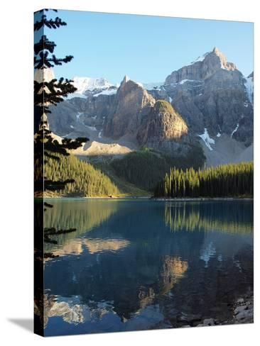 Moraine Lake in Banff National Park-Vienna mornings-Stretched Canvas Print