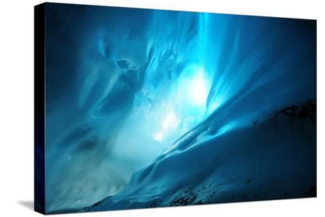 Ice Cave Lighting-Piriya Photography-Stretched Canvas Print
