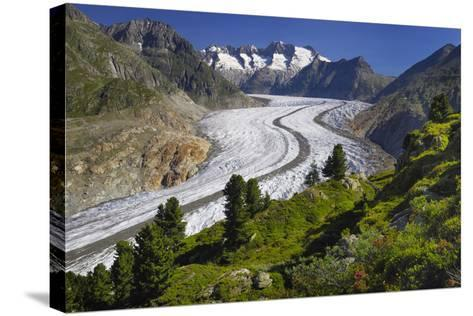 Aletsch Glaciers in Swiss Alps-Cornelia Doerr-Stretched Canvas Print