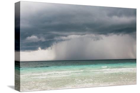 Rain Storm over the Ocean and Beach-Sasha Weleber-Stretched Canvas Print