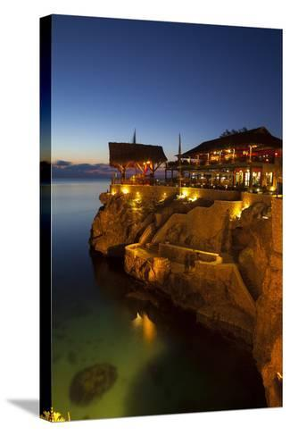 The Famous 'Ricks Cafe', Negril, Jamaica-Doug Pearson-Stretched Canvas Print
